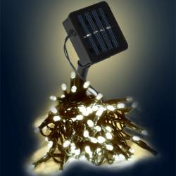 LED světelný řetěz Solar - 50 LED, 5m