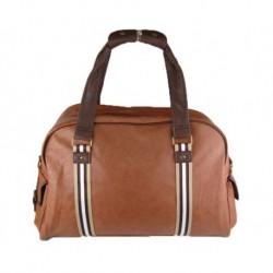 Cestovní karamelová taška sportovního typu do ruky a na rameno