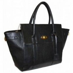 Černá kabelka na rameno z ekokůže