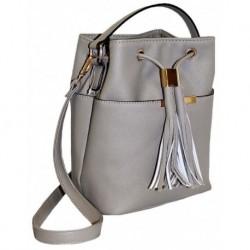 Orginální šedá kabelka ve tvaru pytle