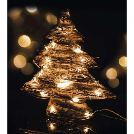 30LED XMAS RATTAN TREE IP20 WW