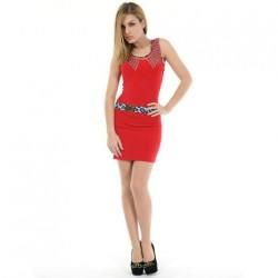 Dámské šaty Via Bellucci Vi1028468 vel. M - červený