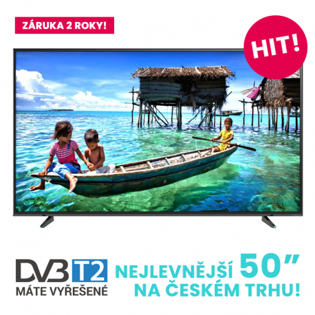 Televizor VoV Full HD Smart LED, VLED50-82T2FHDSM