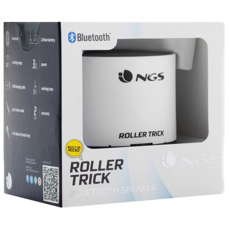 Přenosný Bluetooth mini reproduktor NGS White Roller - bílá