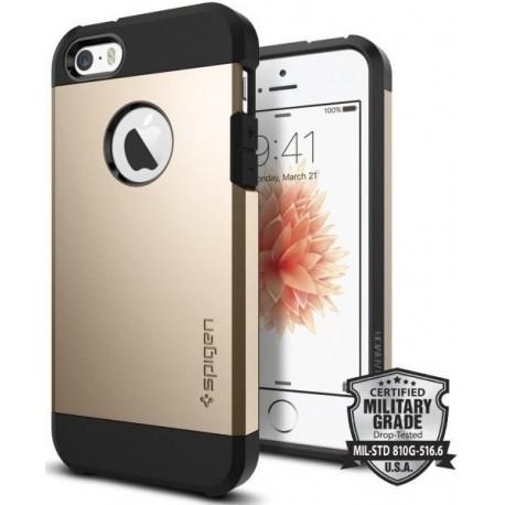 Ochranný kryt na mobil Iphone 6S/6 - Spigen Tough Armor, zlatá - růžová