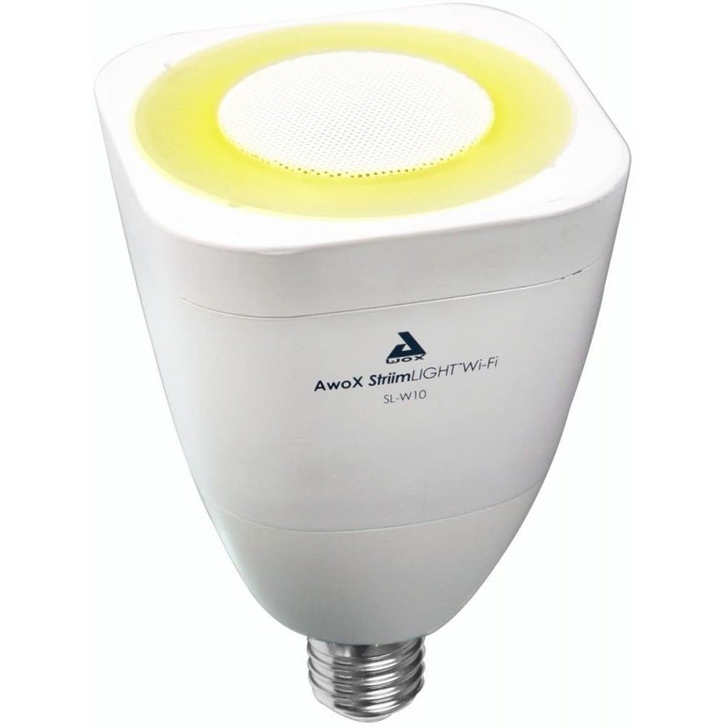 SMART LED žárovka s reproduktorem AwoX StriimLight WI-FI COLOR E27 - bílá AwoX