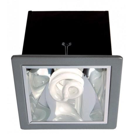 Stropní svítidlo s reflektorem Brilum Teo 10s - stříbrná