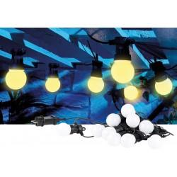Venkovní párty světlo řetěz Lunartec 4,5m, černá