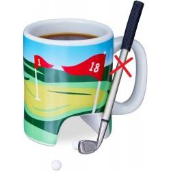 Keramický hrnek Relaxdays 10023505, golf