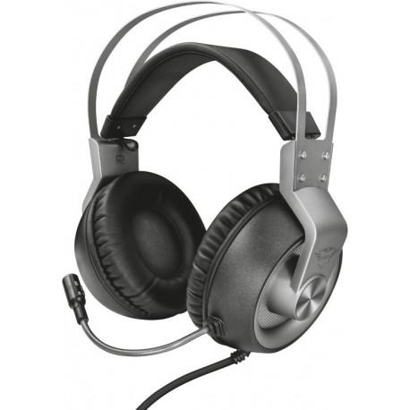 Herní sluchátka Trust Ironn GXT 430, stříbrná