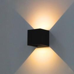 Nástěnné krychlové LED svítidlo Faro Spotlight, 230V, 6W, černá