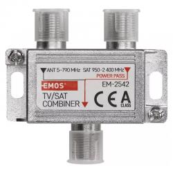 Slučovač satelitního a anténního signálu EMOS EM-2542 (TV/SAT)