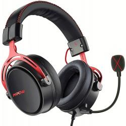 Herní sluchátka Mpow BH439A, červeno-černá