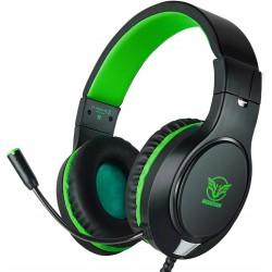 Herní sluchátka Masacegon H-11, černo-zelená