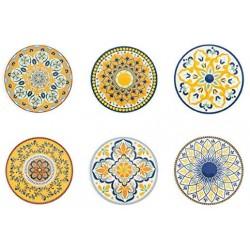 Sada plastových talířů Villa D´Este Home Tivoli, 33 cm, 6 ks