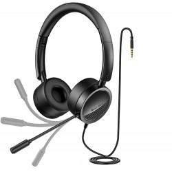 Sluchátka s mikrofonem New Bee H360, černá
