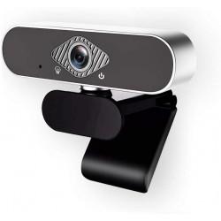 Webová kamera s mikrofonem Yolily HD 1080P, stříbrná