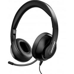 Sluchátka s mikrofonem Mpow, BH224A, černá