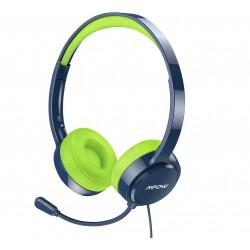 Dětská sluchátka s mikrofonem Mpow 071, modro-zelená