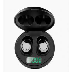 Bezdrátová sluchátka s nabíjecím pouzdrem TWS J1, černá