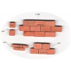 Cihly pro modelářství Alea Mosaik - 4 x různý rozměr (16x8x4 mm, 12x8x4 mm 8x8x4 mm 4x8x4 mm), cca 200ks
